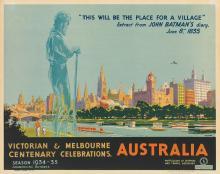 PERCIVAL ALBERT (PERCY) TROMPF (1902-1964). VICTORIAN & MELBOURNE CENTENARY CELEBRATIONS / AUSTRALIA. Circa 1934. 19x24 inches, 50x63 c