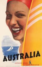 DESIGNER UNKNOWN. AUSTRALIA. Circa 1956. 39x25 inches, 100x64 cm. McLaren & Co., Melbourne.