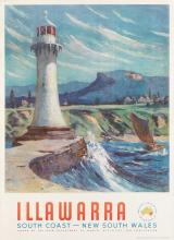 JULIAN RICHARD ASHTON (1913-2001). ILLAWARRA. Circa 1950s. 38x24 inches, 97x61 cm. A.H. Pettifer, Sydney.