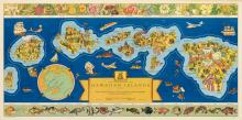 PARKER EDWARDS (DATES UNKNOWN). THE DOLE MAP OF THE HAWAIIAN ISLANDS. 1937. 18x36 inches, 47x93 cm. Independent Pressroom, Inc., San Fr