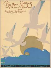 DESIGNER UNKNOWN. BY THE SEA / CANADIAN NATIONAL RAILWAYS. 39x29 inches, 99x73 cm.