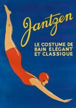 DESIGNER UNKNOWN. JANTZEN / LE COSTUME DE BAIN ÉLÉGANT ET CLASSIQUE. 49x35 inches, 126x89 cm.