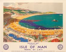 CHRISTOPHER CLARK (1875-1942). ISLE OF MAN / TRAVEL BY LMS. 39x49 inches, 99x125 cm. London Lithographic Co., London.