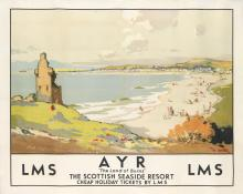 ROBERT EADIE (1877-1954). AYR / LMS. Circa 1930. 39x49 inches, 100x125 cm. W.E. Berry Ltd., Bradford.