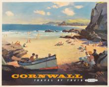 LESLIE ARTHUR WILCOX (1904-1982). CORNWALL. 1960. 39x49 inches, 100x125 cm. Jordison & Co. Ltd., London.