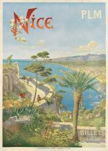H. TANCONVILLE (HENRI GANIER, 1845-1936). NICE. Circa 1900. 41x28 inches, 105x73 cm. B. Delaye, L. Hemmere & Cie., Lyon.