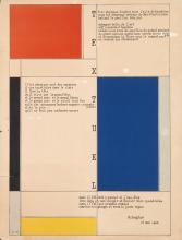 D'APRÈS PIET MONDRIAN (1872-1944). TEXTUEL / M. SEUPHOR. Circa 1952. 25x19 inches, 64x49 cm.