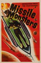 DESIGNER UNKNOWN. MISSILE MONSTERS. 1958. 41x27 inches, 104x68 cm.