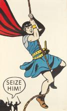 DESIGNER UNKNOWN. SEIZE HIM! Circa 1960's. 51x32 inches, 131x81 cm. United Book Guild, New York.