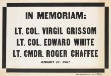 DESIGNER UNKNOWN. IN MEMORIAM. 1967. 28x40 inches, 71x101 cm.