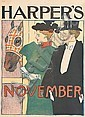 EDWARD PENFIELD (1866-1925). HARPER'S NOVEMBER. 1895. 16x inches, 41x29 cm.