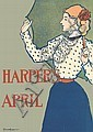 EDWARD PENFIELD (1866-1925). HARPER'S APRIL. 1897. 18x13 inches, 46x33 cm.