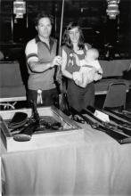 (THE GUN REPORT) An archive of approximately 334 photographs from the annual Gun Report trade show of collectible guns and knives.