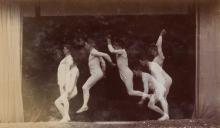GEORGES DEMENY (1850-1917) Chronophotograph of a man jumping.