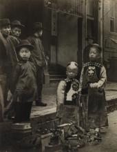 ARNOLD GENTHE (1869-1942) Chinese New Year, Old Chinatown, San Francisco.