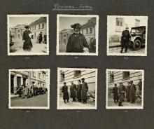 (JUDAICA/WORLD WAR II) Album with 168 carefully composed photographs in occupied Poland by a Nazi photographer.