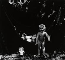 RALPH EUGENE MEATYARD (1925-1972) Nude child with mask.