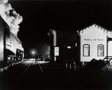 O. WINSTON LINK (1914-2001) Train No. 17, The Birmingham Special, Gets a Highball (Rural Retreat, Virginia).