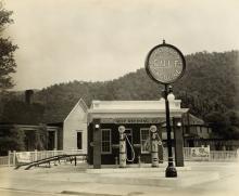 (GULF OIL--KENTUCKY) Album entitled Photographs of Service Station Properties, Gulf Refining Company, Louisville, Kentucky.
