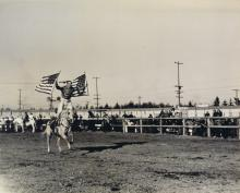 (RODEO) Group of 31 photographs of rodeo events in Seattle, Washington.