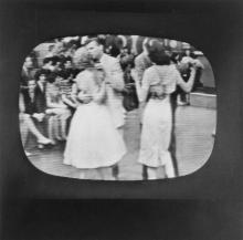 (TELEVISION--AMERICAN BANDSTAND) A collection of 36 snapshots made of a TV screen during the hit show, American Bandstand.