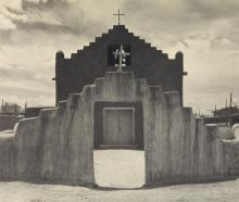 ANSEL ADAMS. Taos Pueblo.