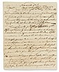 (AMERICAN REVOLUTION--PRELUDE.) Trumbull, Joseph. Letter of support from the Committee of Correspondence of Norwich to Boston.