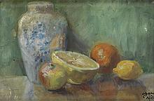 LOÏS MAILOU JONES (1905 - 1998) Still Life with Grapefruit.