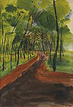 WILLIAM H. JOHNSON (1901 - 1970) Untitled (Wooded Pathway).