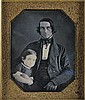 AUGUSTUS WASHINGTON (1820 - 1875) Unidentified Man with Child.
