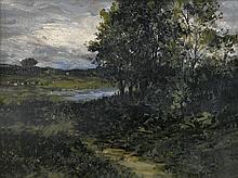 EDWARD M. BANNISTER (1828 - 1901) Untitled (Rhode Island Landscape).