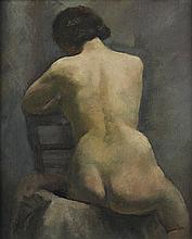 LOÏS MAILOU JONES (1905 - 1998) Nude, Paris (Etude).