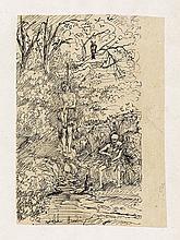 RODOLPHE BRESDIN Femme pendue et la Mort jouant du Violin.