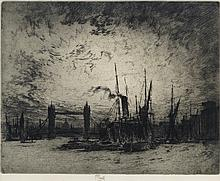 JOSEPH PENNELL Three etchings.