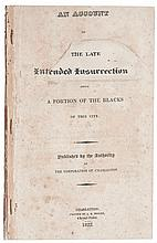 (SLAVERY AND ABOLITION--SLAVE UPRISINGS AND INSURRECTIONS.) An Account of the Late Intended Insurrection Among a Portion of the Blacks