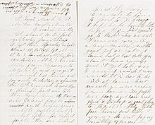 (SLAVERY AND ABOLITION.) LOGUEN, JERMAIN. Autograph Letter Signed to his daughter Amelia. St Louis, March 6, 1869.