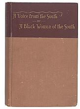 (SLAVERY AND ABOLITION--WOMEN.) COOPER, ANNA JULIA. A voice from the South by a Black Women of the South.