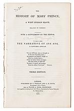 (SLAVERY AND ABOLITION--NARRATIVES.) [PRINGLE, THOMAS, Editor]. The History of Mrs. Mary Prince, a West Indian Slave, Related by Hersel