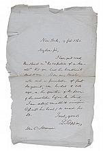 (SLAVERY AND ABOLITION.) TAPPAN, LEWIS. Autograph Letter Signed to Charles Sumner, regarding a vote in the Senate.