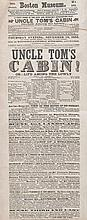 (SLAVERY AND ABOLITION.) STOWE, HARRIET BEECHER. First Week of the New and Intensely Interesting Play Uncle Tom's Cabin, or Life Among