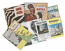 (AFRICA.) Group of 12 travel brochures for various places in Africa, 1950-1960: South Africa, Natal, Bulawayo, French West Africa, Leop
