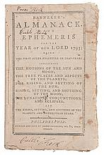 (ALMANAC.) BANNEKER, BENJAMIN. Banneker's Almanack and Ephemeris for the Year of our Lord, 1793.