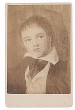 (ART.) DOUGLASS, ROBERT. Portrait of Joseph Parrish, aged about 10 (supplied title).