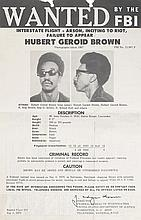 "(BLACK PANTHERS.) HUBERT GEROID [""RAP""] BROWN. WANTED BY THE F.B.I."