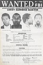 (BLACK PANTHERS.) LEROY ELDRIDGE CLEAVER. WANTED BY THE F.B.I.