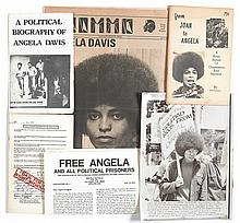 (BLACK PANTHERS.) DAVIS, ANGELA. Group of 25 items relative to the arrest and trial of Angela Davis.