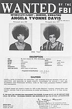 (BLACK PANTHERS.) DAVIS, ANGELA. WANTED BY THE F.B.I.