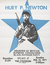 (BLACK PANTHERS.) NEWTON, HUEY P. Huey P. Newton, Minister of Defense . . .