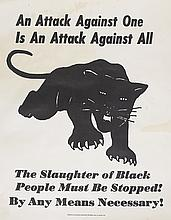 (BLACK PANTHERS.) ROBERT BROWN ELLIOT LEAGUE. An Attack Against One is An Attack Against All. The Slaughter of Black People Must Be Sto