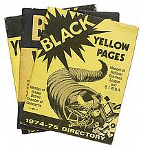 (BUSINESS DIRECTORIES.) Black Yellow Pages for 1973-74 * Black Yellow Pages for 1975-76.